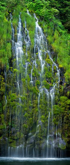 Mossbrae Falls, Dunsmuir, California, Mt. Shasta area. Oh heyyy, this is in Cali!