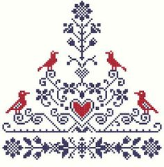 Germanic folk design cross stitch. Love this.