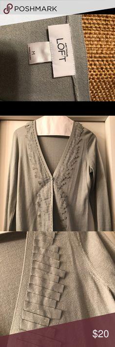 Gray cardigan Light gray cardigan with gray embellishment LOFT Sweaters Cardigans