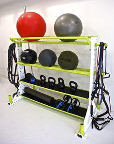 Custom color fitness storage rack