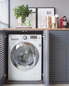 Laundry Room Ideas: An Extra Function for Your Balcony – Unique Balcony & Garden Decoration and Easy DIY Ideas Outdoor Laundry Rooms, Small Laundry Rooms, Laundry Room Design, Interior Design Living Room, Living Room Designs, Küchen Design, House Design, Laundry Room Inspiration, Laundry Room Organization