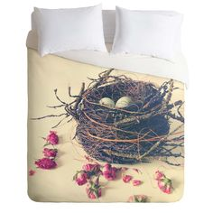 Olivia St Claire Bird Nest Duvet Cover | DENY Designs Home Accessories