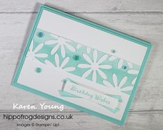Monochrome Birthday Card. Handmade using Itty Bitty Birthdays Stamp Set, Playing With Patterns DSP, Playing With Patterns Ribbon Combo Pack, Medium Daisy Punch and Artistry Blooms Adhesive-Backed Sequins from Stampin' Up!   Visit www.hippofrogdesigns.co.uk for more project ideas. Class Projects, Project Ideas, Cardmaking, Monochrome, Punch, Adhesive, Stampin Up, Birthday Cards, Card Ideas