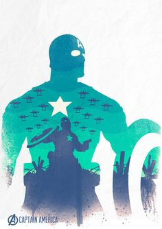 avengers Captain America poster by Val Cabadonga