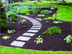 25 Incredible DIY Garden Pathway Ideas You Can Build Yourself To Beautify Your Backyard - Garden Cheap Landscaping Ideas, Shed Landscaping, Garden Web, Diy Garden, Garden Ideas, Backyard Ideas, Shade Garden, Gravel Garden, Garden Paths