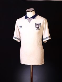 1990-92 England Home Shirt *Italy 90 Embroidery* L