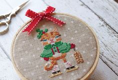 Advent Animals DMC Thread Pack ONLY : Brooke's Books Advent Calendar counted cross stitch hand embroidery needlework by thecottageneedle