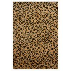 LA Rug Inc Supreme Leopard Skin Brown and Black 5 ft. 3 in. x 7 ft. 6 in. Area Rug - Model # TSC 048 5376 at The Home Depot