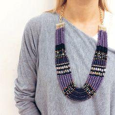 Collana €49,90 Spedizione gratuita  #manlioboutique WhatsApp 329.0010906 #necklace #violet #jewelry #accessories