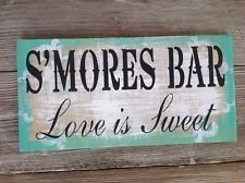 Tiffany blue, rustic wedding sign, shabby chic, s'mores bar- love is sweet
