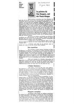 La Lanterne : Le Peintre Guy Huygens, ami des Peaux Rouges par Louis Quiévreux (15.06.1966)