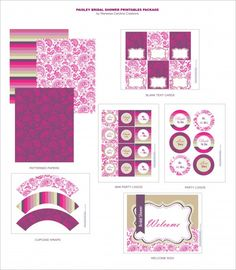 free bridal shower printable decorations invitations