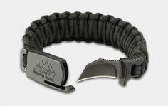 Taking the survival paracord bracelet up a notch, the Para-Claw is a stylish and discreet way to always have an inconspicuous utility/personal defense knife at the ready. Its patent-pending sheath system locks the knife securely for immediate use, whenever you need it. Available in three sizes and colors, the Para-Claw is hand-tied from 550 paracord in Denver.