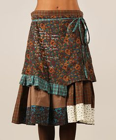 Brown & Green Vicky Skirt by Ian Mosh