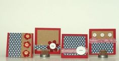 Mini Card Set - Little cuties for a mantel or shelf