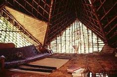 anupama kundoo house in auroville - Google Search Auroville India, Union Territory, Bay Of Bengal, Pondicherry, Indian Architecture, French Colonial, Tree Line, Bucket, Construction