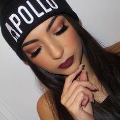 Beautiful @gpmakeup BROWS: Brow Powder in dark brown EYES: Modern Renaissance Palette LIPS: Heathers liquid lipstick #anastasiabeverlyhills #modernrenaissance
