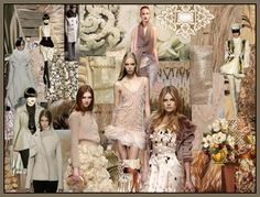 Fashion-era.com fashion colour trends - Winter White Cream, Taupe & Cocoa Mood Board Fall 2008/9.