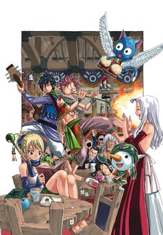 Fairy Tail Mirajane Lucy Natsu Gray Happy Time Pillow Cushon Home Decorate Fairy Tail Amour, Art Fairy Tail, Anime Fairy Tail, Image Fairy Tail, Fairy Tail Pictures, Fairy Tail Love, Fairy Tail Guild, Fairy Tail Ships, Fairy Tales