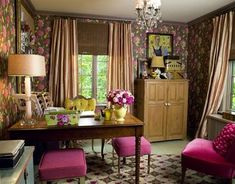 Girly and feminine home office