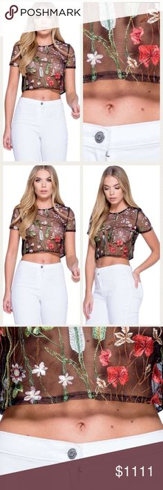 💖LUNA Sheer Floral Garden Crop Top 💖💖LUNA Sheer Floral Garden Crop Top. Flowers and Garden Printed. Super cute top for spring summer. Pretty girly preppy ! Trendy Hot sexy! By Five O'clock Wear Clothing COMING SOON Five O'clock Wear Clothing Tops Crop Tops