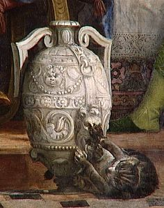 detail of cat from The wedding at Cana