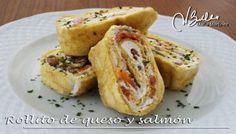 Rollito de queso y salmón con finas hierbas (Crucero)