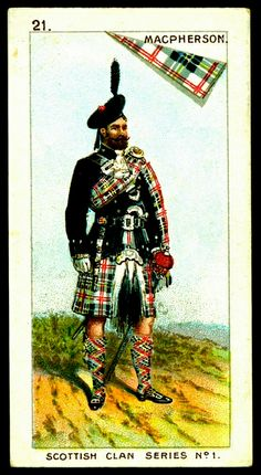 Mitchell's Cigarettes (Glasgow) - Scottish Clan Series - 1903. #21 MacPherson | The House of Beccaria~