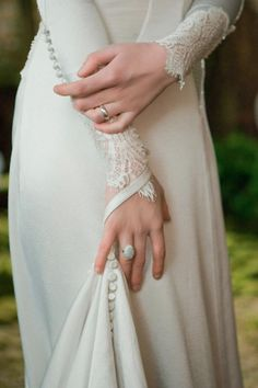 I'm in love with long sleeved wedding dresses.