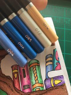 Adult Coloring, Coloring Pages, Colouring Techniques, Colour Combinations, Colored Pencils, Art Supplies, Castle, Products, Pens