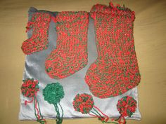 Stocking Knit Stitch On Loom : Loom knit Christmas stocking Looming Pinterest