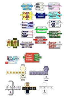 Printable miniature toothpaste boxes | Source: Photodex