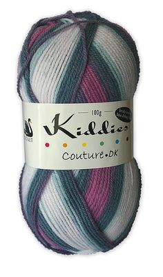 Kiddies Couture DK Beautifully bright self-striping yarn available in a great range of colours - Blueberry Stripe