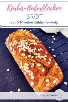 Dieses Kürbisbrot ist saftig und gesund und kann sowohl süß als auch herzhaft… This pumpkin bread is juicy and healthy and can be prepared both sweet and savory. It is easy to prepare fast with whole grain and also as pumpkin bun or pumpkin baguettes. Oatmeal Bread, Peanut Butter Oatmeal, Pumpkin Oatmeal, Cheese Pumpkin, Pumpkin Bread, Cooking Bread, Hot Dog Recipes, Gateaux Cake, Dog Cakes