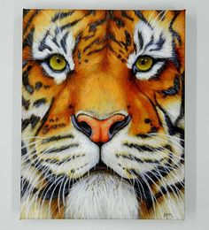 Canvas Tiger Art Tiger Painting Tiger Print Tiger Artwork.