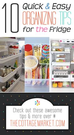 10 Quick & Easy Fridge Organizing Tips