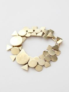 gold geometric shape necklace ----> love this