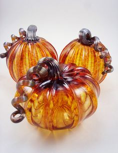 Harvest Pumpkin - Luke Adams Glass Blowing Studio My friends brought one of these pumpkins back for me from their trip to Boston and I LOVE it! This picture does not do the beautiful color justice...makes a beautiful gift for anyone who loves pumpkins as much as me :)