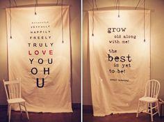 idée: faire un fond avec un tissu, peut être ce qu'il y a de plus simple a faire