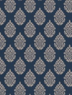 0149601 Calabash Cobalt by Fabricut Textile Prints, Textile Patterns, Print Patterns, Textiles, Pattern Art, Pattern Design, Fabric Design, Textile Design, Floral Upholstery Fabric