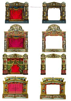 Victorian Paper Theatre Set SteamPunk ATC/ Altered Art/ Cards Craft/ Digital : Victorian Paper Theatre Set SteamPunk ATC/ by DesignPrintCreate Victorian Toys, Paper Art, Paper Crafts, Punch And Judy, Toy Theatre, Marionette, Collage Artwork, Scenic Design, Paper Toys