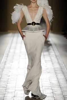 anything w/feathers will do.  Christophe Josse Fall 2012 Couture