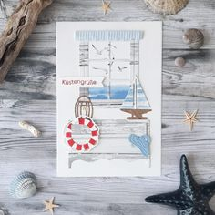 Sommerfenster Ihr Lieben, es ist Sommer geworden draußen und was bedeutet das?! Es wird endlich so richtig maritim. Ihr erinnert euch sicher noch an das Weihnachtsfenster aus dem letzten Jahr. Nun gibt es die Ergänzung: das maritime Sommerfenster. ...weiter gehts auf dem Blog ;o) #charlieundpaulchen #scrapbooking #happy #instagood #cardmaking #diycards #cardmakingideas #paperlove #cardsofinstagram #cardmaking #handmade #paperaddict @Kreativelch Card Stock, Place Cards, Place Card Holders, Instagram, Blog, Paper, School Notebooks, Basic Colors, Book Folding