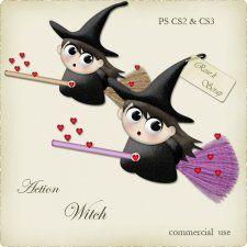 Action - Witch by Rose.li cudigitals.com cu commercial action bow ribbonelements scrap scrapbook digital graphics#digitalscrapbooking #photoshop #digiscrap #scrapbooking