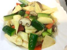 清炒小黃瓜鮮菇筊白筍