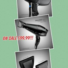 Izutech hair dryer on Sale for only $99.99!! Come in before they are gone! #alamoheights #izutech #hairdryer #sales #hairstylist Alamo Heights, Izu, Styling Tools, Hair Dryer, Hair Diffuser, Dryer
