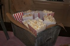 Lady's Makes and Bakes: A Vintage Baseball-Themed Baby Shower! Popcorn!