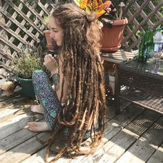"1,306 Likes, 10 Comments -  ROLLIE LOCS  (@rollies2thesky) on Instagram: ""Her dreadlocks are beautiful before and after. Which do you prefer ? —-> These are…"""