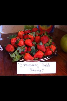 "Beatles theme party food ideas ""strawberry fields"""