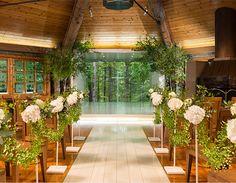 ニドム 石彩の教会 森の教会(HOTEL NIDOM) チャペル どこまでも続く森に向かって永遠の愛を誓う